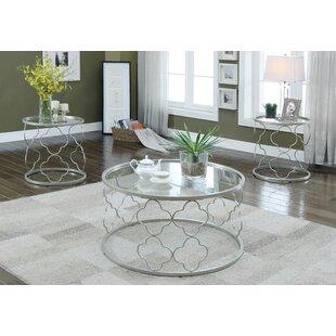 Christina 3 Piece Coffee Table Set