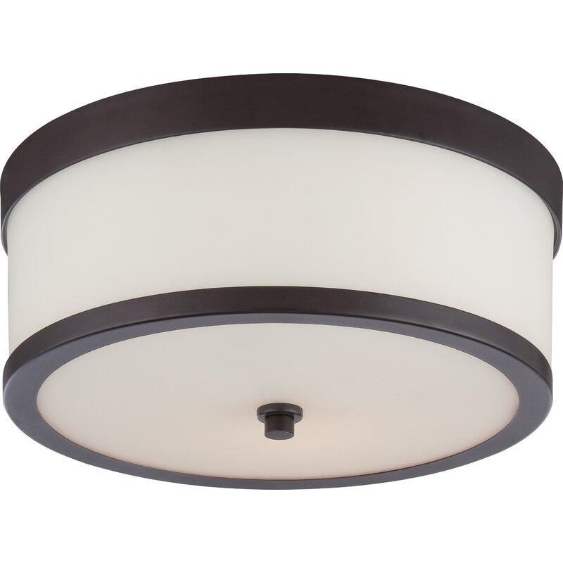 Ebern Designs  Curtin 2-Light Flush Mount