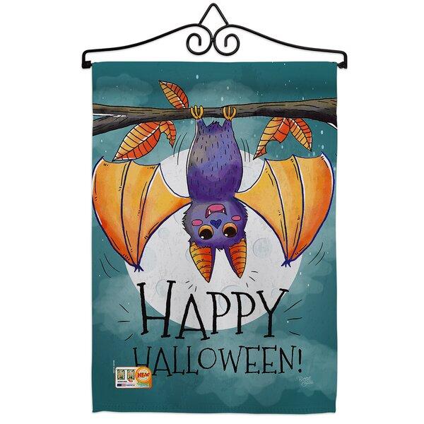 Breeze Decor Happy Halloween Bat 2 Sided Polyester 13 X 19 In Flag Set Wayfair