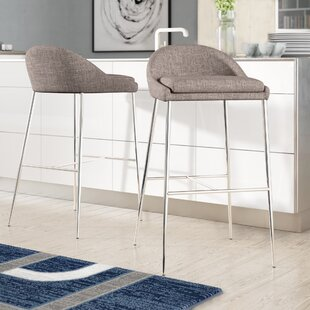Cassel 35.63 Bar Stool (Set of 2) Wade Logan