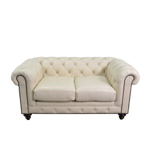 Newbury Genuine Top Grain Tufted Leather Chesterfield Sofa