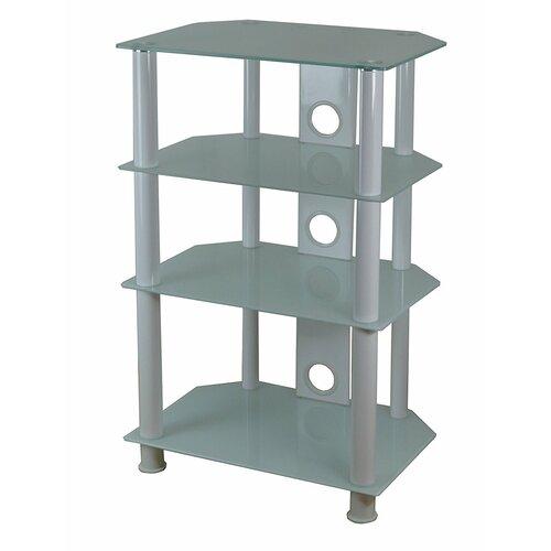 HiFi-Rack | Wohnzimmer > TV-HiFi-Möbel > HiFi-Racks | Schwarz/weiß | Aluminium | ClearAmbient