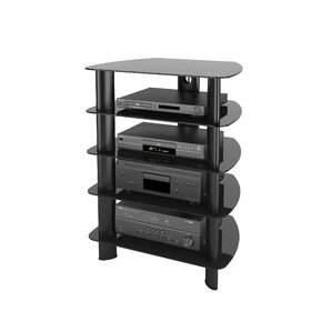 Norwood Glass Component Stand Audio Rack by Latitude Run