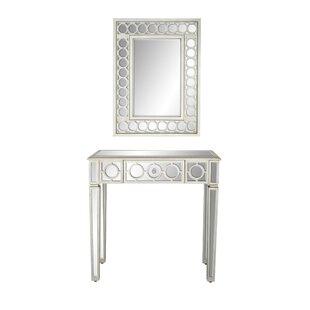House of Hampton Baypoint Modern Vanity with Mirror (Set of 2)