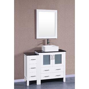 Madalyn 42 Single Bathroom Vanity Set with Mirror by Bosconi
