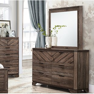 Lyle 6 Drawer Double Dresser with Mirror by Union Rustic