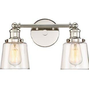 Reviews Woodburn 2-Light Vanity Light By Beachcrest Home