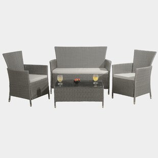 Marpain 4 Seater Rattan Effect Sofa Set By Sol 72 Outdoor