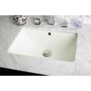 Best Ceramic Rectangular Undermount Bathroom Sink with Overflow ByAmerican Imaginations