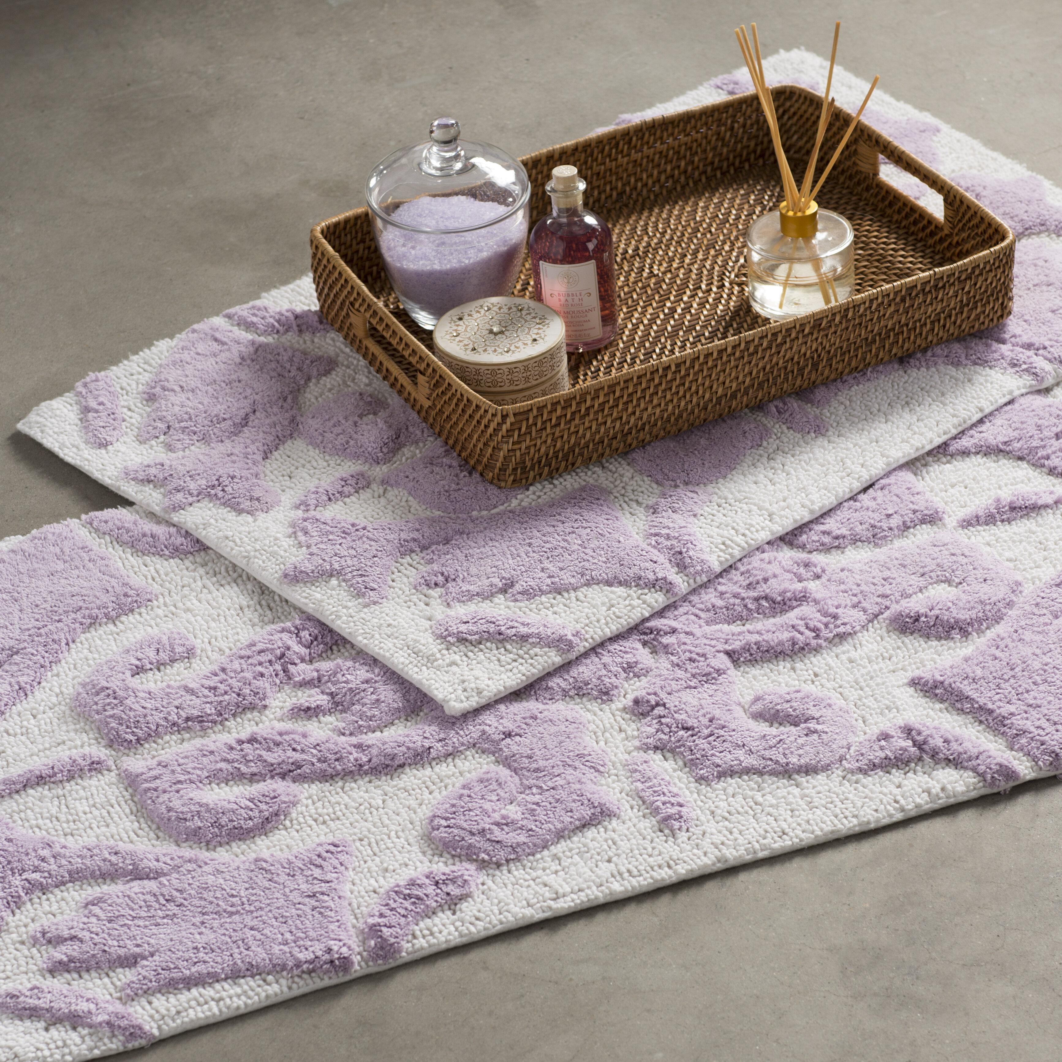 Bungalow Rose Hooten Rectangle 100 Cotton Non Slip Floral Piece Bath Rug Set Reviews Wayfair Ca