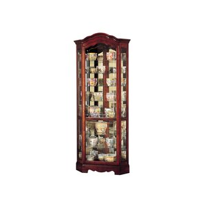Jamestown Lighted Corner Curio Cabinet by Howard Miller®