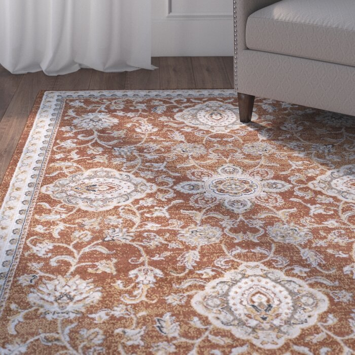 Lenora Clic Burnt Orange Area Rug