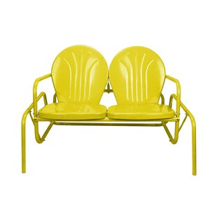 Mervin Retro Metal Tulip Outdoor Double Glider Chair