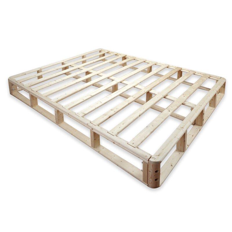 """Alwyn Home 8"""" Wood Box Spring & Reviews   Wayfair"""