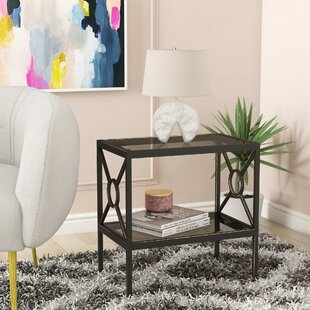 Kandice Metal End Table by Mercer41