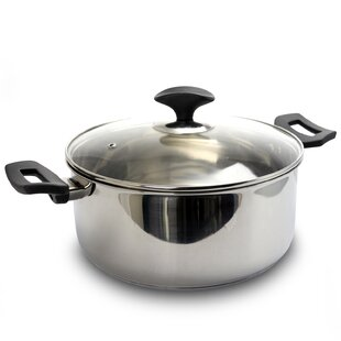 Cartland 5 Qt. Stainless Steel Round Dutch Oven with Lid