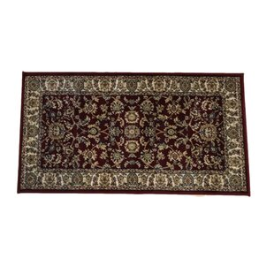 Carnahagh Hand Knotted Red Rug by Rosalind Wheeler