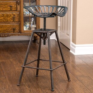 Belkis Adjustable Height Bar Stool Williston Forge