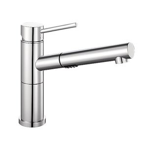 Blanco Alta Single Handle Deck Mounted Standard Kitchen Faucet with Dual Pull Out Spray