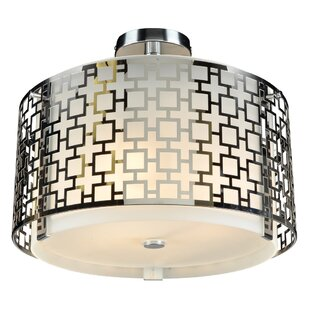 Brocka 3-Light Semi-Flush Mount by Willa Arlo Interiors