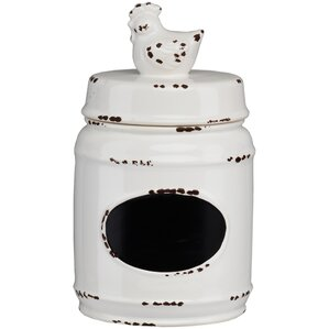 Farm Ceramic Rooster Kitchen Canister