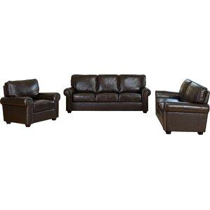 Coggins Leather 3 Piece Living Room Set by D..