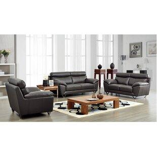 Orren Ellis Fish Leather Configurable Living Room Set