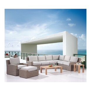 Reims Modular Patio Sectional Set with Cushions by Emerald Home Furnishings