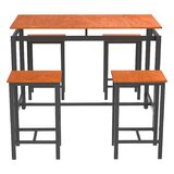 Alesa 5 - Piece Counter Height Dining Set by Ebern Designs