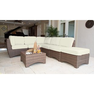 Key Biscayne 7 Piece Sunbrella Sectional Set with Cushions by Panama Jack Outdoor