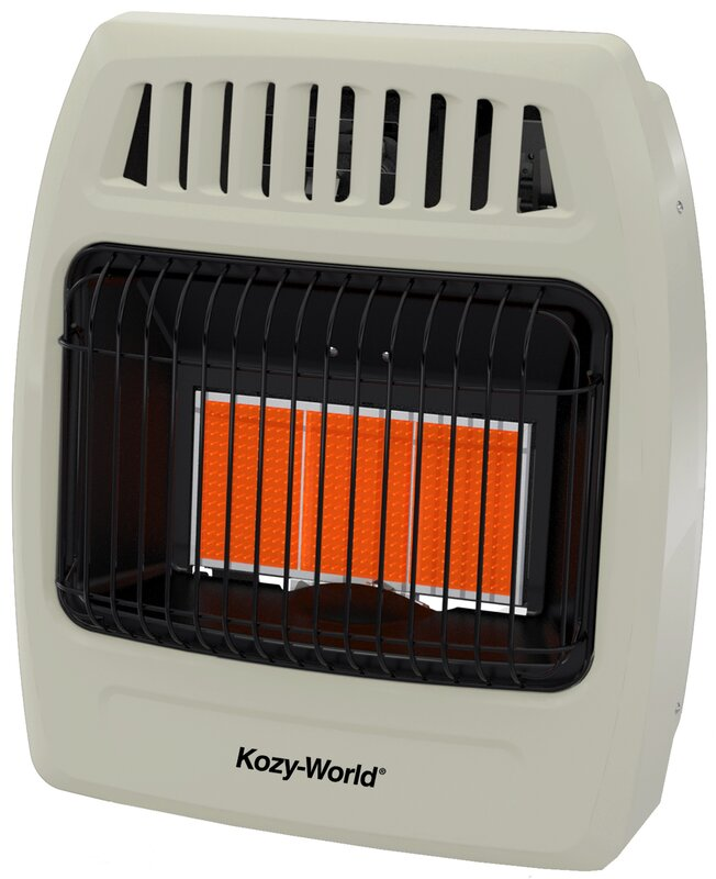 DuraHeat Kozy World 18,000 BTU Infrared Natural Gas Wall Heater ...