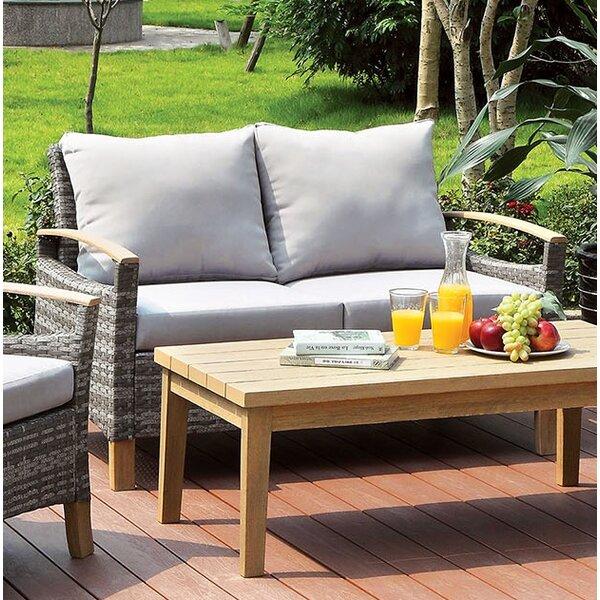 Bungalow Rose Piute Patio Loveseat With Cushions | Wayfair
