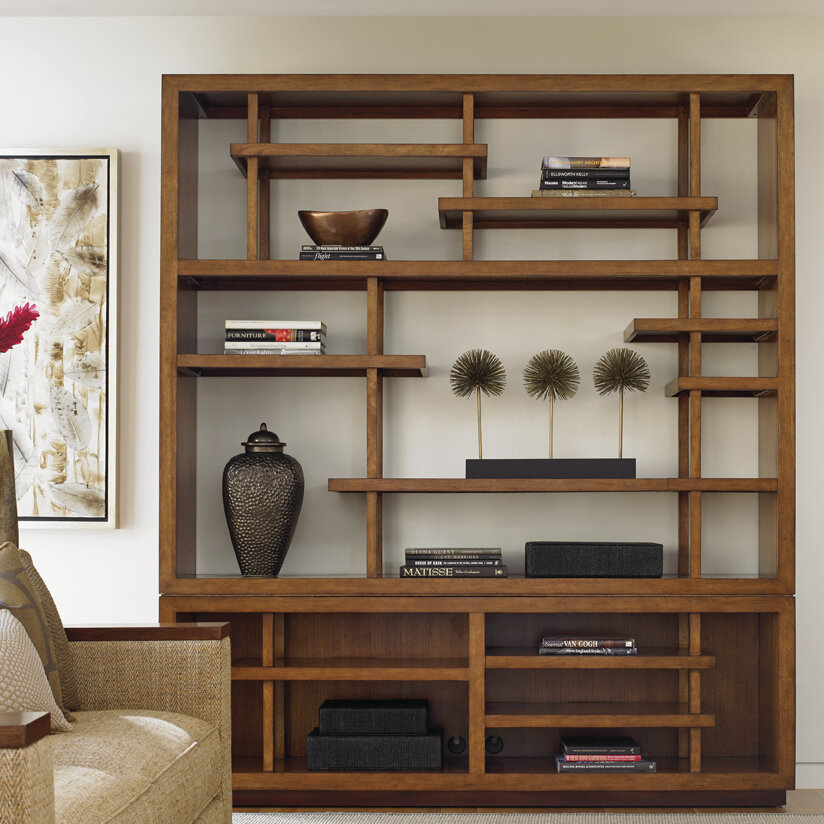 Island Fusion Taipei Media Library Bookcase By Tommy Bahama Home