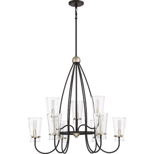Gracie Oaks Vidaurri 9-Light Shaded Chandelier