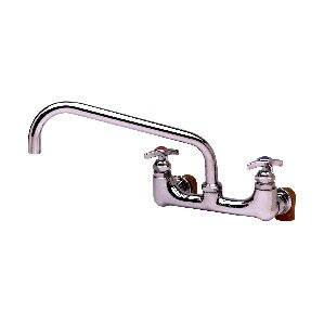 T&S Brass Two Handle Wall Mount Big-Flow Kettle and Pot Faucet
