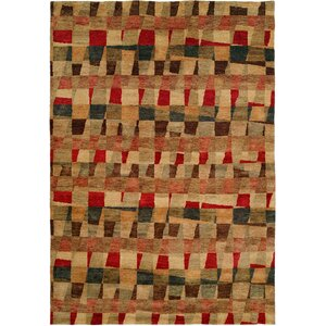 Manama Hand-Knotted Red/Brown Area Rug