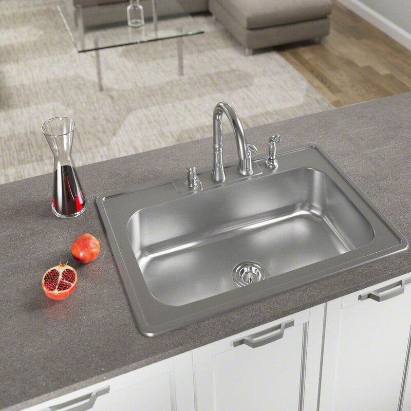 Mrdirect stainless steel 33 x 22 drop in kitchen sink with stainless steel 33 x 22 drop in kitchen sink with additional accessories workwithnaturefo