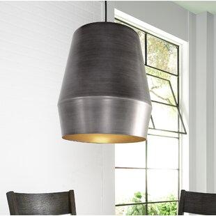 Brennon 1-Light Bell Pendant by Zipcode Design