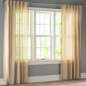 Ocheltree Solid Semi-Sheer Rod Pocket Curtain Panels (Set of 2)