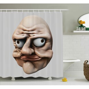 Gestures Ugly Decor Single Shower Curtain