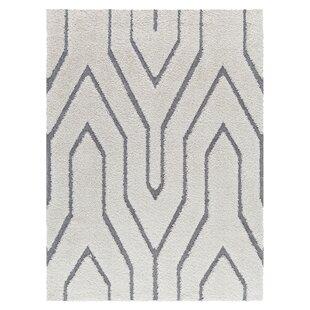 Compare Poulos Platinum Shag White Area Rug ByBrayden Studio