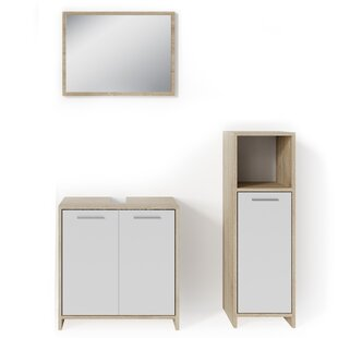 Vice 3 Piece Bathroom Furniture Set With Mirror By 17 Stories