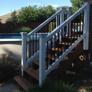 Beaumont Stair Railing With Round Aluminum Spindles Panel