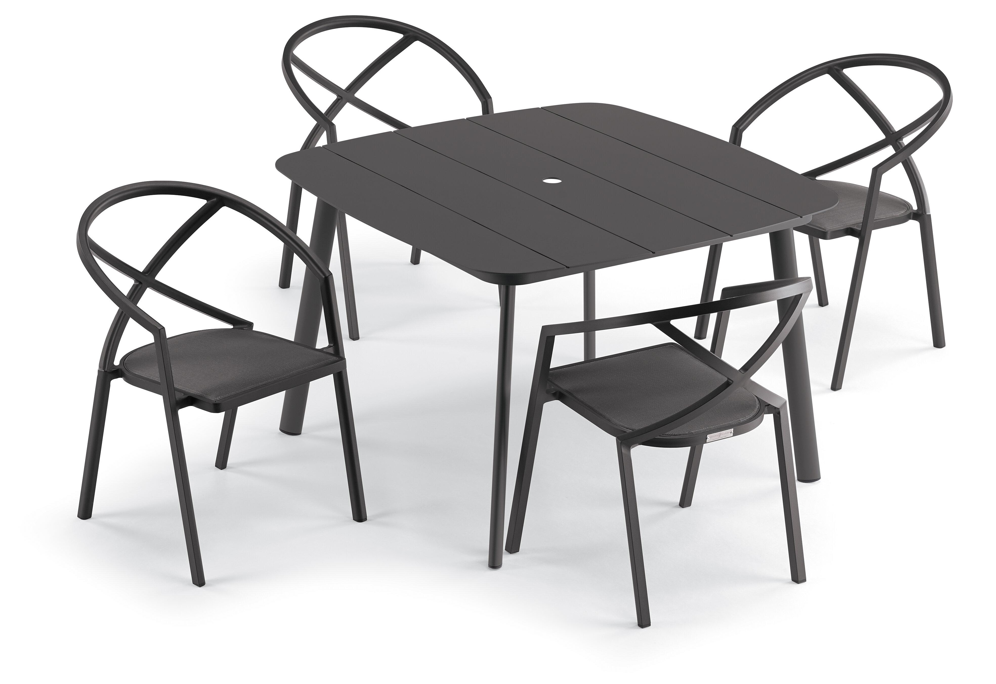 Corrigan Studio Gillender Square 4 Person 45 Long Dining Set Wayfair