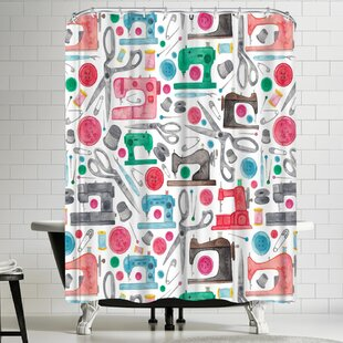Elena Oneill Sewing Single Shower Curtain