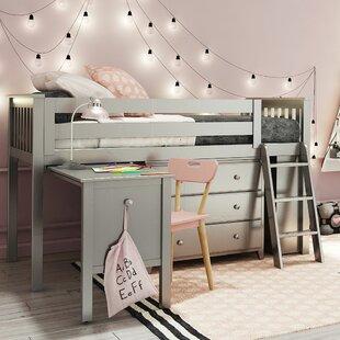 Top Reviews Crump Twin Low Loft Bedroom Set ByHarriet Bee