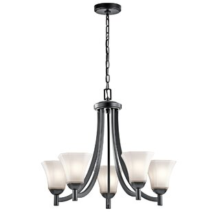 Alcott Hill Huntington 5-Light Shaded Chandelier
