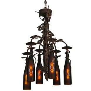 Meyda Tiffany Greenbriar Oak Tuscan Vineyard 6-Light Shaded Chandelier