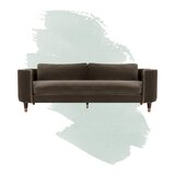 Winford Velvet 91.3 Recessed Arm Sofa by Foundstone™
