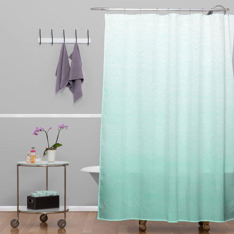 Kessinger Mint Ombre Shower Curtain